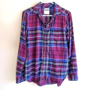 American eagle outfitters plaid button down top